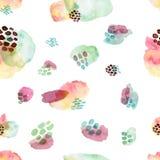 Waterverf naadloos patroon, de manierstijl die van puntmemphis, helder ontwerp achtergrond herhalen De hand schilderde moderne bo vector illustratie