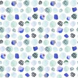 Waterverf naadloos patroon, de manierstijl die van puntmemphis, helder ontwerp achtergrond herhalen De hand schilderde moderne bo stock illustratie