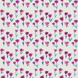 Waterverf naadloos patroon met tulpen en pastelkleurachtergrond Achtergrond voor Web-pagina's, huwelijksuitnodigingen, sparen de  Royalty-vrije Stock Afbeelding
