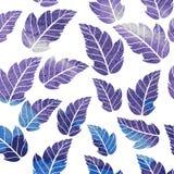 Waterverf naadloos patroon op bladerenthema Royalty-vrije Stock Foto