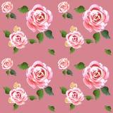 Waterverf naadloos patroon van aardbeien stock illustratie