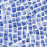 Waterverf naadloos patroon van zwembadtegel stock illustratie