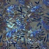 Waterverf naadloos patroon Waterverf naadloze heldere backgrou Stock Afbeeldingen