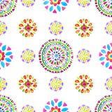 Waterverf Retro patroon van geometrische vormen Royalty-vrije Stock Afbeelding
