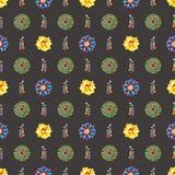 Waterverf Retro patroon van geometrische vormen Stock Afbeelding