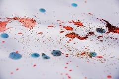 Waterverf roze oranje blauwe grijze blauwe achtergrond Kleurrijk patroon, ontwerp Royalty-vrije Stock Afbeelding