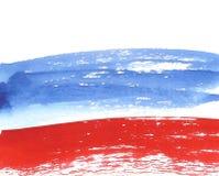 Waterverf Russische Vlag, abstracte banner van Rusland Stock Afbeeldingen