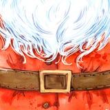 Waterverf Santa Claus Santa Claus Background stock illustratie