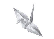 Waterverf van origamikraan royalty-vrije illustratie
