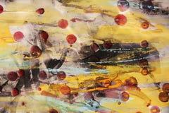 Waterverf wasachtige achtergrond met uitstekende donkere vlekken Stock Foto's