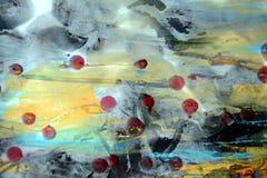 Waterverf wasachtige rokerige achtergrond met uitstekende donkere vlekken Royalty-vrije Stock Fotografie