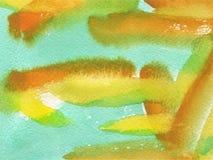 Waterverfachtergrond met document textuur Stock Foto