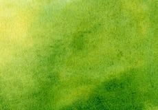 Waterverfachtergrond met hand geschilderd abstract zon en gras Ontwerp van banners, affiches, affiches, kaarten, uitnodigingen, royalty-vrije stock afbeeldingen