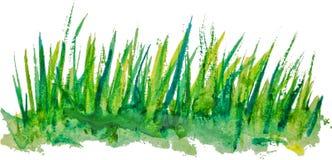 Waterverfachtergrond met uitstekend lineair graspatroon Stock Foto
