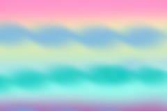 Waterverfachtergrond van roze, blauwe, gele en groene kleuren Royalty-vrije Stock Foto