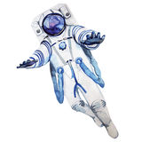 Waterverfastronaut in een spacesuit vector illustratie