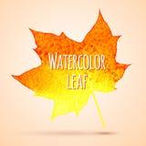Waterverfblad Royalty-vrije Stock Afbeeldingen