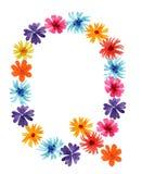 Waterverfbrief Q van wildflowers beste monogram royalty-vrije illustratie