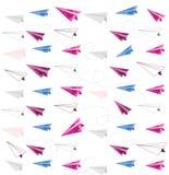 Waterverfdocument vliegtuig naadloos patroon Royalty-vrije Stock Afbeeldingen
