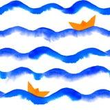 Waterverfgolven Stock Fotografie