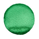 Waterverfhand geschilderde cirkel Mooie ontwerpelementen Groene Achtergrond vector illustratie