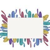 Waterverfillustratie van multi-colored cactussen Royalty-vrije Stock Fotografie
