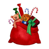 Waterverfillustratie van Santa Claus Royalty-vrije Stock Afbeelding