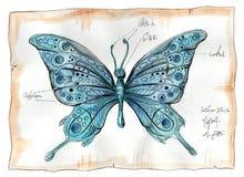 Waterverfillustratie van vlinder vector illustratie