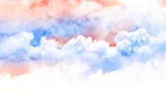 Waterverfillustratie van wolk Stock Foto's
