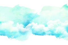 Waterverfillustratie van wolk Stock Afbeelding