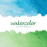 Waterverfkaart Stock Fotografie