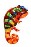Waterverfkameleon royalty-vrije illustratie