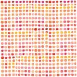 Waterverfpalet met gekleurde rechthoeken Multicolored abstracte hand geschilderde achtergrond Reeks kwaststreken op Witboek royalty-vrije illustratie