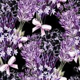 Waterverfpatroon met Lavendel Hand het schilderen watercolor stock illustratie