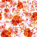 Waterverfpatroon van achtergrond van de bladeren de naadloze textuur Royalty-vrije Stock Fotografie