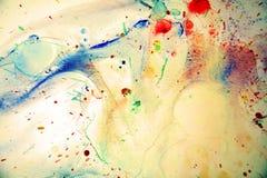 Waterverfplonsen en abstracte achtergrond Royalty-vrije Stock Afbeeldingen