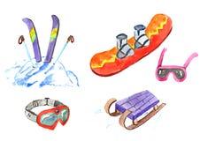 Waterverfreeks wintersporten Royalty-vrije Stock Foto