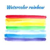 Waterverfregenboog voor ontwerp Vector illustratie Royalty-vrije Stock Afbeeldingen