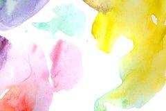 Waterverfsamenvatting multicoloured Royalty-vrije Stock Afbeelding