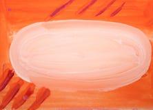 Waterverfsamenvatting vage oranje achtergrond met witte vlek en lijnen vector illustratie