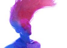 Waterverfsilhouet Royalty-vrije Stock Afbeeldingen