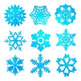 Waterverfsneeuwvlokken Stock Fotografie
