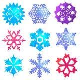 Waterverfsneeuwvlokken Royalty-vrije Stock Fotografie