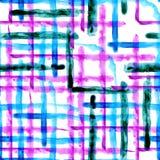 Waterverfstrepen, naadloos patroon Stock Afbeeldingen