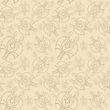Waterverftekening van een naadloos patroon op een marien thema en op een dierenriemteken, kanker, zeekreeft, rivierrivierkreeften Royalty-vrije Stock Afbeelding