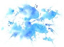 Waterverftextuur van vlekken stock foto