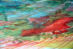 Waterverftinten en modderige abstracte achtergrond Stock Fotografie