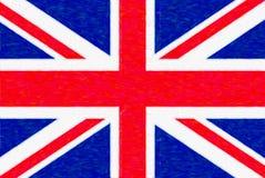Waterverfvlag van Groot-Brittannië, document textuur vector illustratie