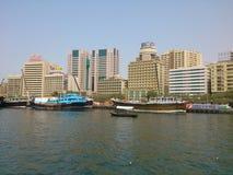 Watervervoer Doubai stock foto's