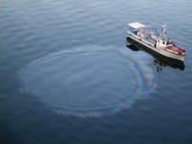 Watervervuiling van een persoon door boot Royalty-vrije Stock Afbeeldingen